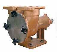 2½&quot; bronze pump, <b>500-size</b>, foot-mounted