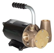 "Utility 40' 1"" Self-Priming Flexible Impeller Pump for Lube Oil"