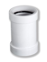 Straight Connector - 40mm, White